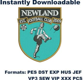 newland football club embroidery design